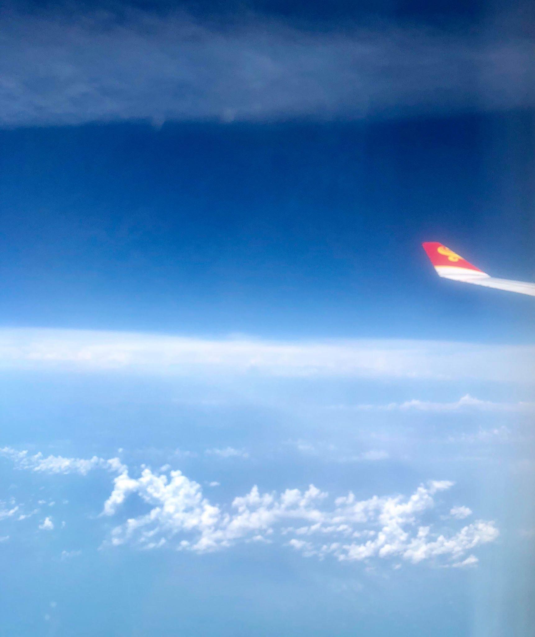 飛行機から写真
